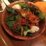 Salad with fresh mozzarella