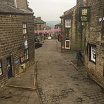 View of Haworth village from our corner room
