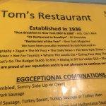 Basic but interesting menu.