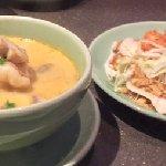 Coconut prawn soup with noodle salad