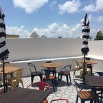 Rooftop had the Miami decor atmosphere! Very Relaxing! (My personal opinion)