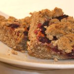 Savannah Bars - blueberries & raspberries on an oatmeal cookie crust
