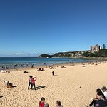 Manly beach view from centre to right