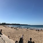 Manly beach view from centre to left