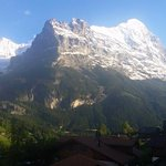 The view from my room balcony everyday. North face of Mount Eigar