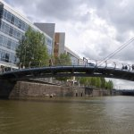 One of Bristol's new pedestrian bridges from the Ferry