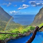 Superior Room Pool view with rainbow.