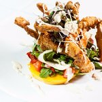 Creole Fried Softshell Crab over Tomato Salad
