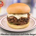 Frisch's Big Boy Primetime Mushroom & Swiss Burger