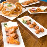Try our awesome appetizers! #appetizers #craballs #hotwings #clamstrips #jalepenopoppers #onionr
