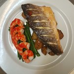 Grilled Sea Bass & King Prawns Sriracha