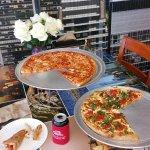 Plain Cheese and Margharita Pies at Pizza La Nova