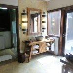 Bathroom in the water villa