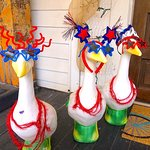 Geese are ready for the party! Bring on the brew!