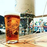 Snake River Pale Ale in front of our silo!