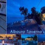 Nontas  Albouro Taverna  Eating on the beach