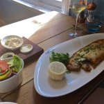 Delicious Dover Sole with salad.