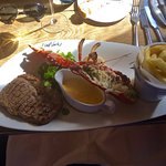 Lobster and Steak with Chips