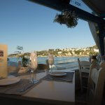 Ligo Krasi Ligo Thalassa - Table view in Almyrida