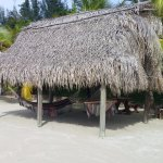 Well shaded hammocks are available on the very clean beach.