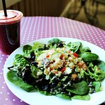 Have a salad and a smoothie!