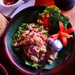 A healthy fish salad