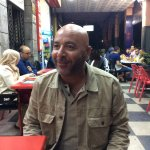 Jalil, 0100, at a local cafe, after meeting us at the Marrakech airport.