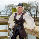 The Pirate Lady of the MarshWalk...Miss Chris of Inlet Walking Tour