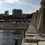 View from the private jetty, towards the hotel.