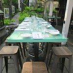 dining in outside garden