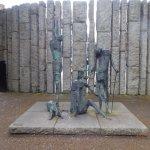 Famine monument in Dublin
