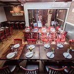 Our main dining room is available for large parties!