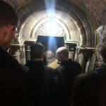 Entrance to the Grotto of Nativity. Is the cave that has honored as the site of Christ's birth