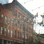 Butterflys over Larimer Street; view from Osteria Marco!