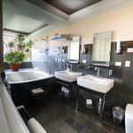 Double sink & Jacuzzi Tub in our Two Bedroom Villa