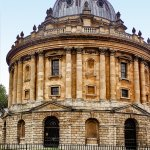 The Radcliffe Camera building stores some of the Bodleian Library's collections.