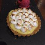 Dessert: delicious Lemon meringue tart