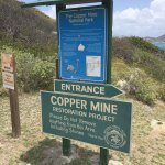 Sign on site of copper mines