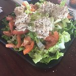 Tuna salad on a salad...