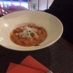 Gnocchi with Crab and tomato, and off course Mozzarella cheese