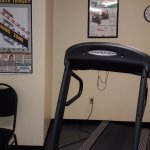 Small fitness center, open until 10:00