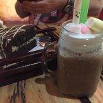 Grandpa's Chocolate cake and a Mocha