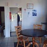 small van camp kitchen area