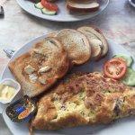 Delicious fresh omelette