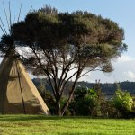 Tipi with Sea View