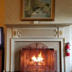 Fireplace in room 109