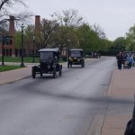 Go for a ride in a model T ford around the village