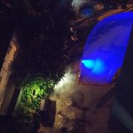 Part of the pool, by night.