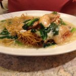 The misleading Yee Mee noodles dish... Sea Prawns instead of Tiger Prawns!
