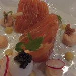 The Balmoral's Smoked Salmon, Quails Egg, Lemon, Anna Caviar